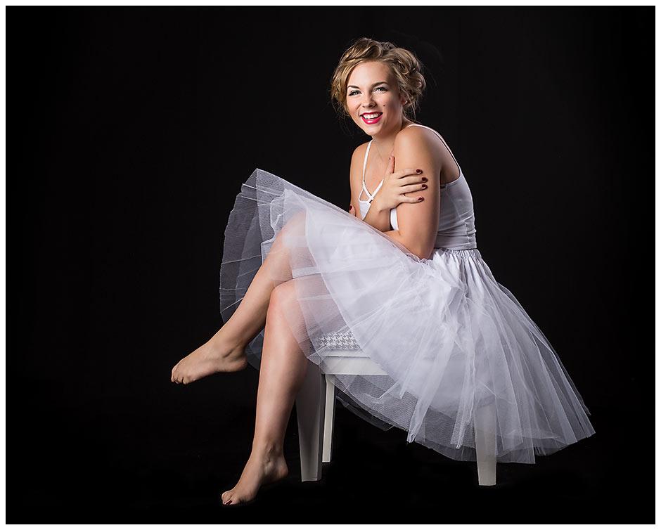 Marilyn Monroe Inspired senior portrait