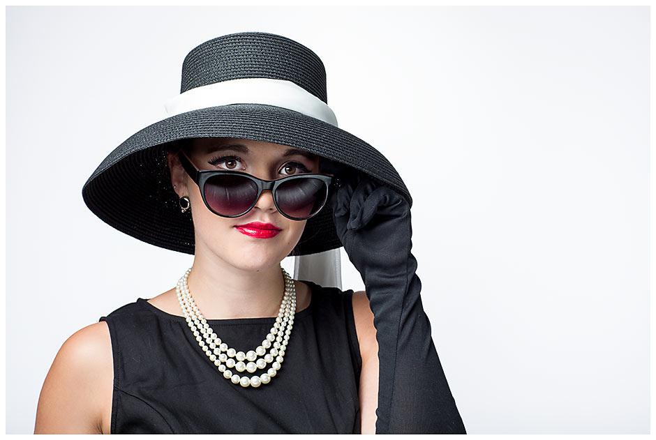 Audrey Hepburn Inspired senior portrait (16)