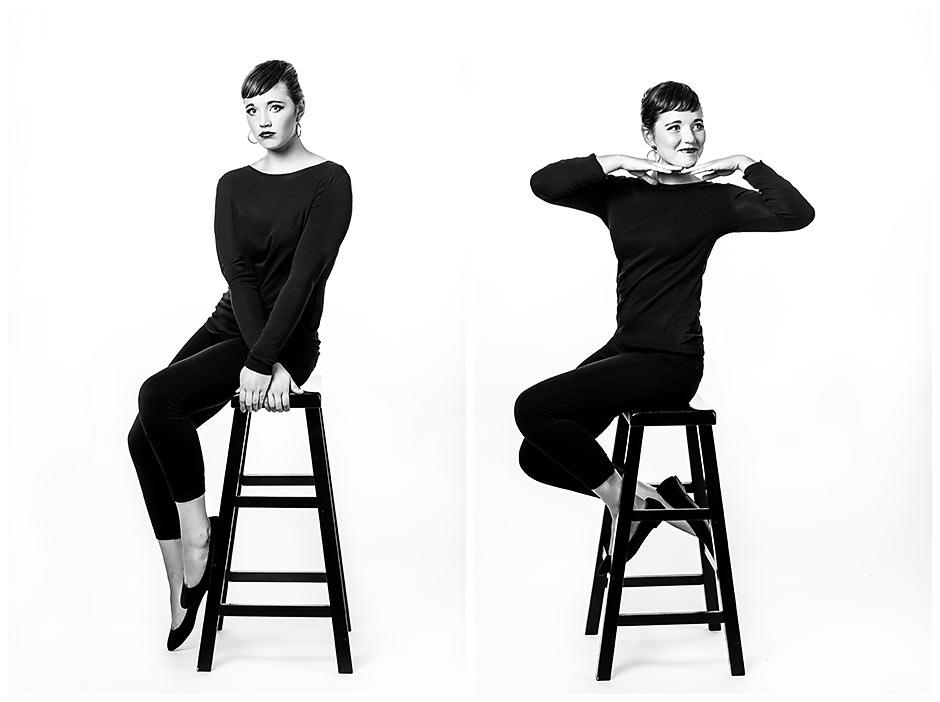 Audrey Hepburn Inspired senior portrait